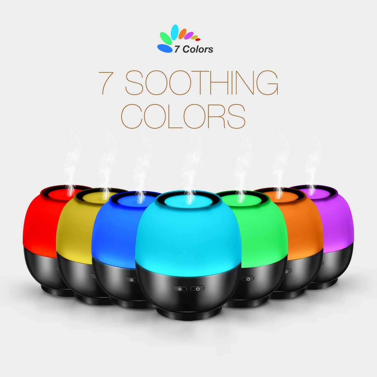 VicTsing Essential Oil Diffuser, 140ml Aroma Essential Oil Diffuser with 7-Color LED Light, Waterless Auto-Off Function, Whisper-Quiet Operation, Suits for Home, Yoga, Office, Spa, Bedroom, Baby Room 1