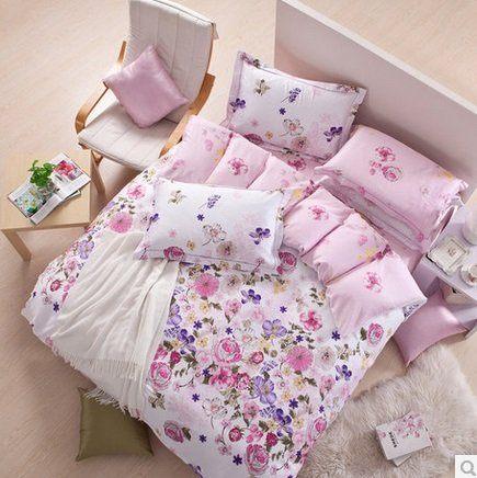 全棉貢緞四件套 床