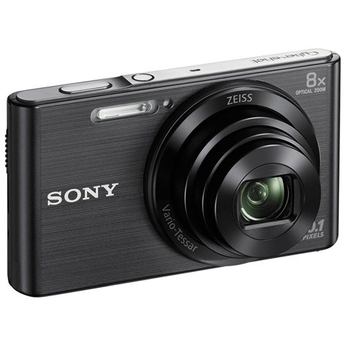 "Sony Cyber-shot DSC-W830 20.1 Megapixel Compact Camera - Black - 2.7"" LCD - 16:9 - 8x Optical Zoom - 4x - Optical (IS) - 11520 x 1080 Image - 1280 x 720 Video - HD Movie Mode 3"