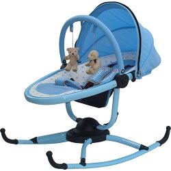 【奇買親子購物網】湯尼熊 Tony Bear 小巨蛋嬰兒安撫旋轉搖椅(藍/粉)