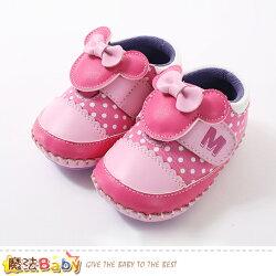 女寶寶鞋 迪士尼米妮正版真皮中底女童鞋 魔法Baby~sk0655