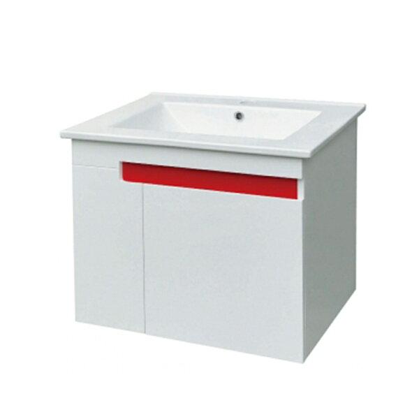 一體瓷盆單門浴櫃組