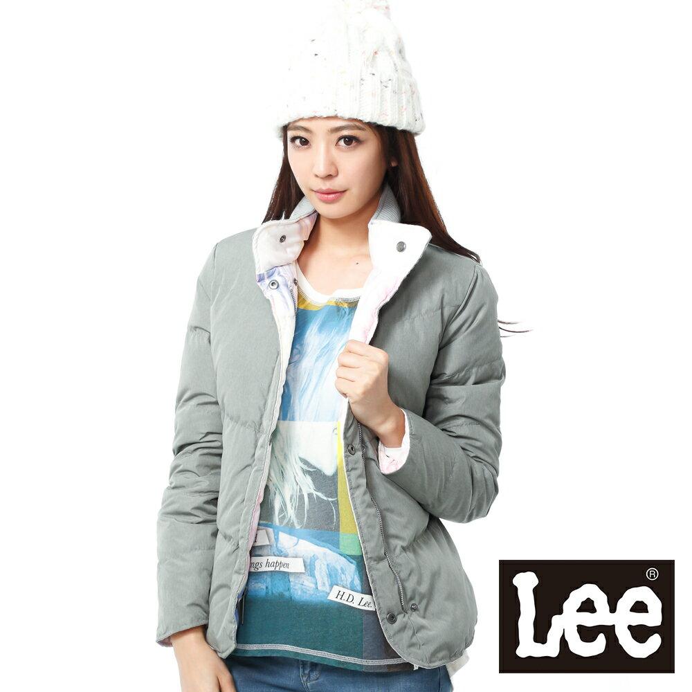 【秋冬商品 BOTTOM ↘3折】LEE 羽絨外套-可兩面穿-女款