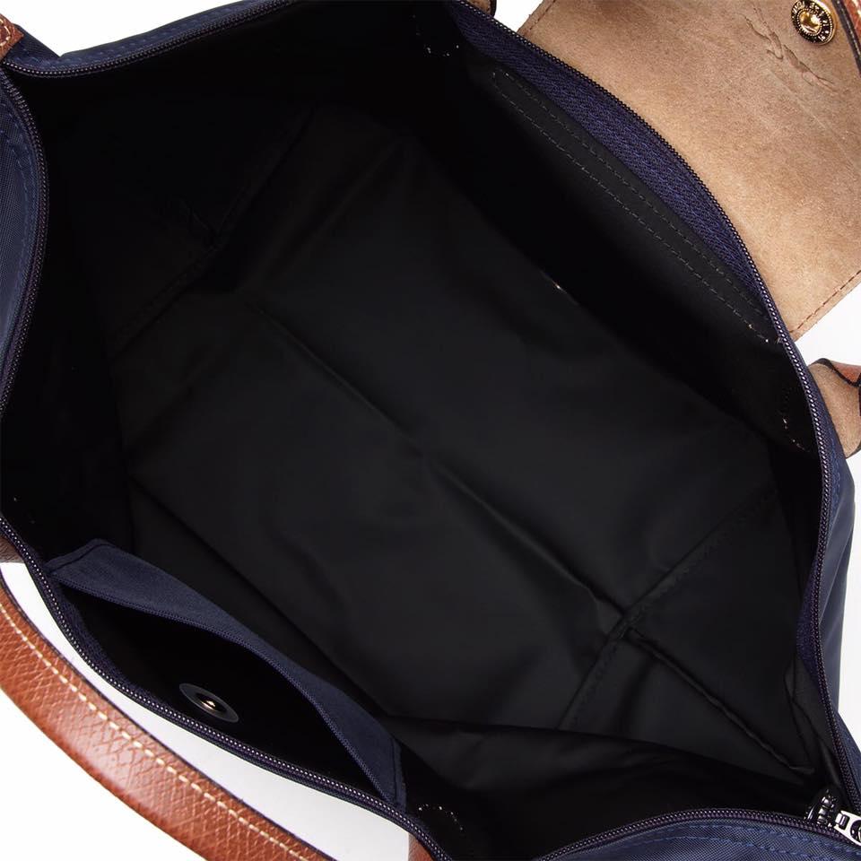 【LONGCHAMP】 LE PLIAGE 基本摺疊款/短把水餃包(深藍/中) 1