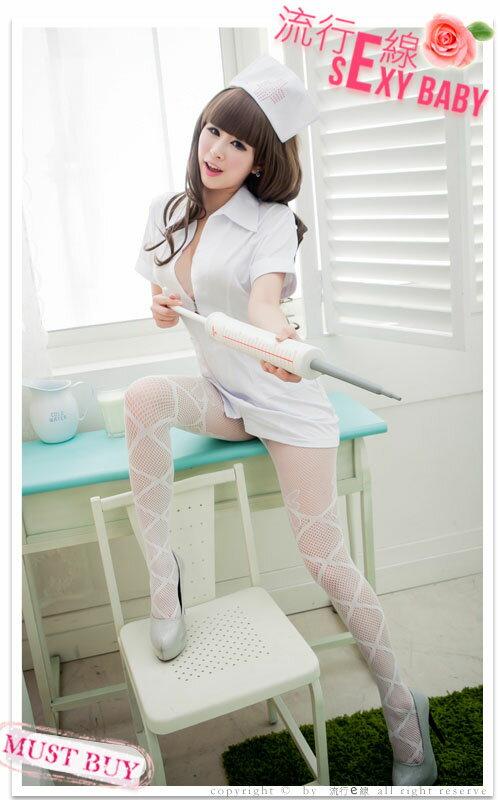 角色扮演大尺碼XL護士服COSPLAY服裝~短袖洋裝護士裝~流行E線A409