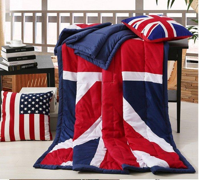 寰宇歐洲風 200^~230 CM 大不列顛日不落風格  英國國旗薄被