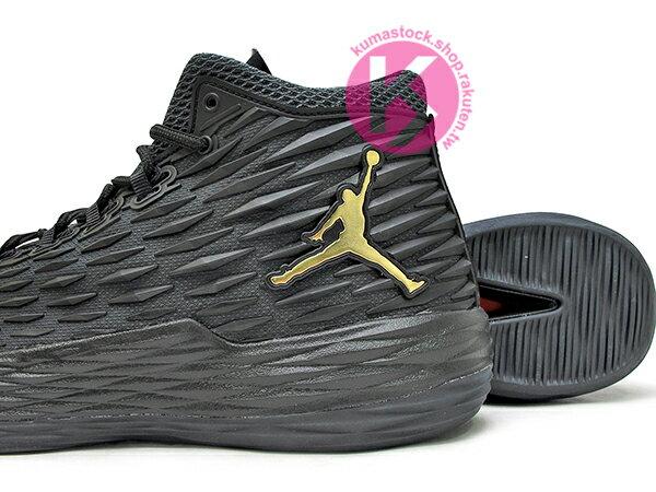 2017 NBA 明星前鋒 Carmelo Anthony 代言 NIKE JORDAN MELO M13 X 全黑 金飛人 KURIM 科技鞋面 FLIGHTSPEED + ZOOM AIR 避震科技傳導 XDR 耐磨橡膠外底 NYC 紐約尼克隊 (902443-002) 0117 3