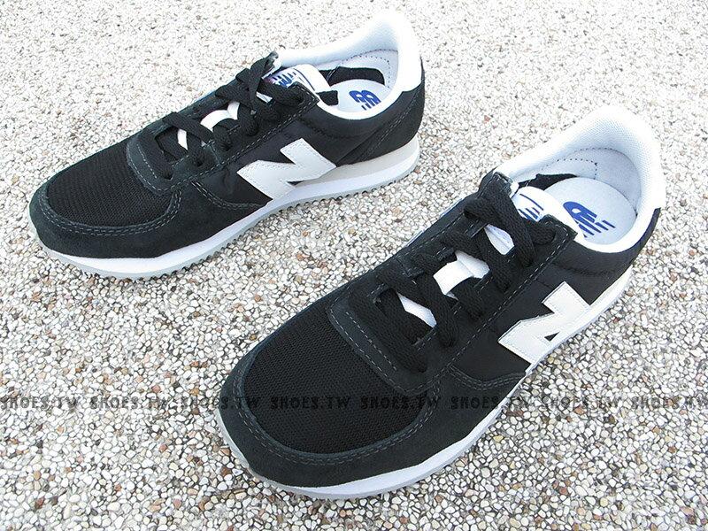 《下殺6折》Shoestw【U220BK】NEW BALANCE NB220 復古慢跑鞋 黑色 白N 麂皮 男女尺寸 1