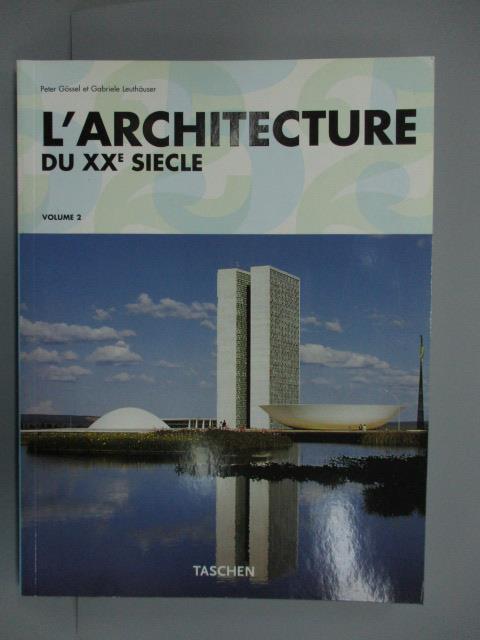 【書寶 書T6/原文書_ZEK】L #x27 ARCHITECTURE DU XXE SI