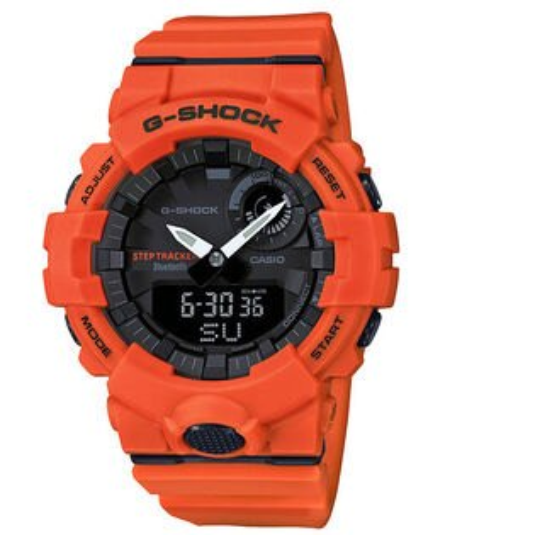 CASIO卡西歐G-SHOCKGBA-800-4AG-SQUAD系列藍芽計步運動腕錶