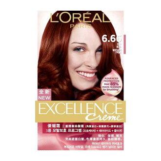 巴黎萊雅  L'Oreal 新版優媚霜三重護髮染髮霜 #6.66 紅色(148g)