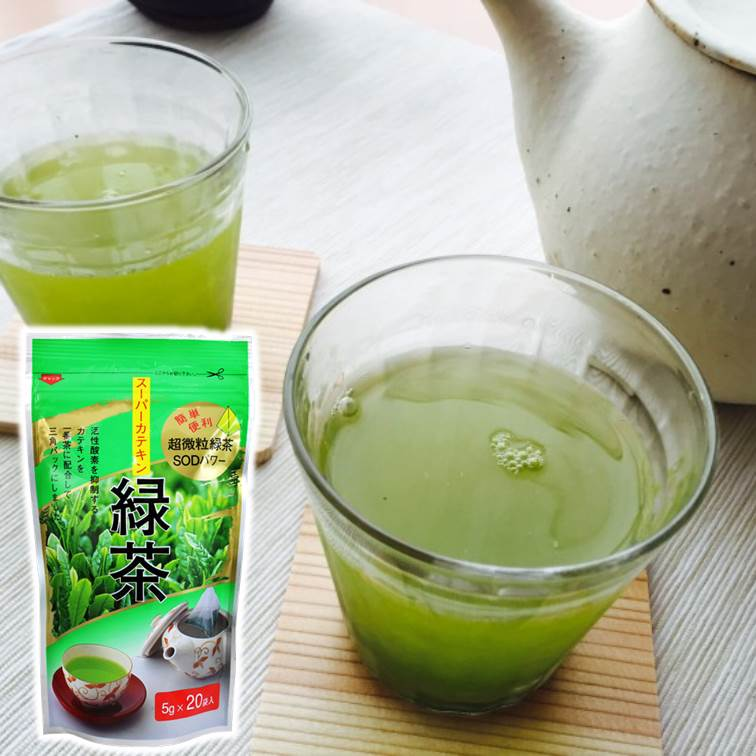 ~袋布向春園 ~超微粒綠茶SOD三角包綠茶 5gX20袋入 スーパーカテキン緑茶  茶包