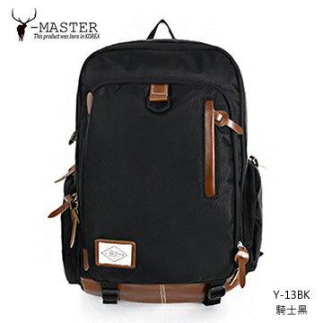 【愛瘋潮】正韓 韓國直送 Y-MASTER 城市探險-15.5吋筆電相機後背包 Y-13BK (騎士黑)