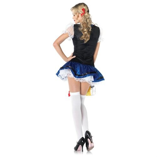 Leg Avenue 83829 Flirty Frauline,features apron dress XS BLACK/BLUE 1