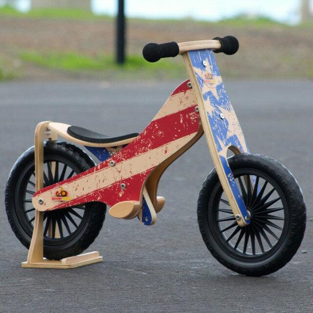 美國【Kinderfeets】木製平衡滑步車/教具車-英雄聯盟系列(美國隊長) 1