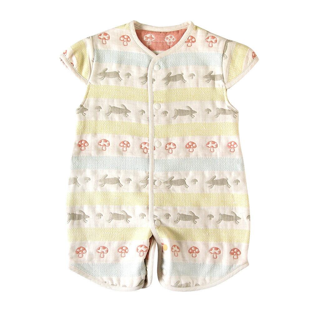 現貨 日本製 Hoppetta 童趣森林 2way成長型睡袍 6重紗防踢背心 六重紗防踢被