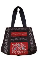 尼泊爾製  優雅經典圖案 手提/肩背 兩用包【尼泊爾 手藝坊】Nepalese made, attractive Nepalese pattern hand cum shoulder bag