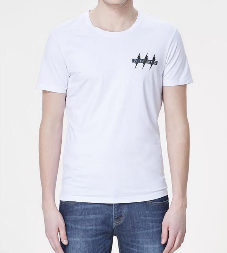 FINDSENSE MD 韓國 男 街頭 時尚 潮 閃電標誌圖案 LogoT恤 短袖T恤 特色T恤