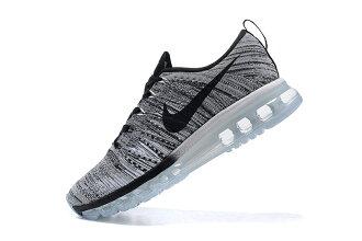 Nike air max 全掌彩虹氣墊編織 男生運動休閒鞋 慢跑鞋 冷灰黑 男鞋