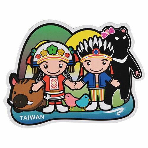 【MILU DESIGN】+PostCard>>台灣旅行明信片-台灣原住民/明信片(阿美族/原住民服飾/TAIWAN)