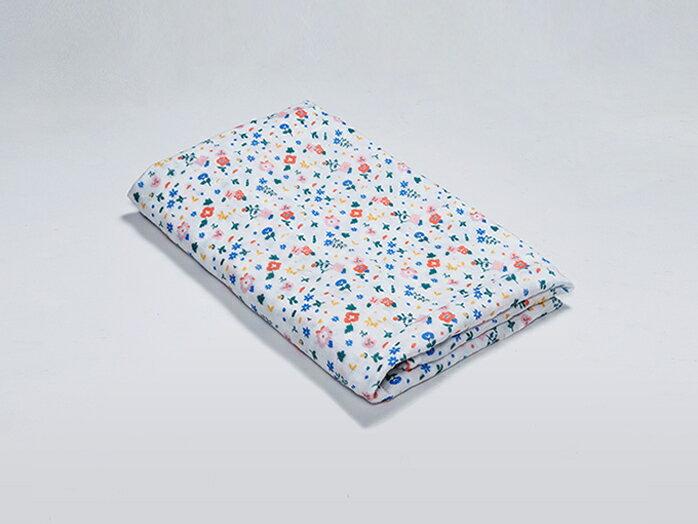 Organic B|有機棉包巾-繽紛花漫漫 120x120cm 有機比比 Unicorn