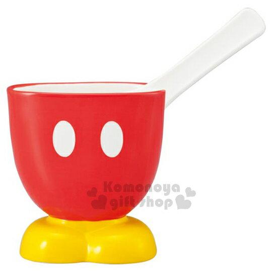 〔小禮堂〕迪士尼 米奇 造型陶瓷飯匙架《紅褲.黃鞋.盒裝》