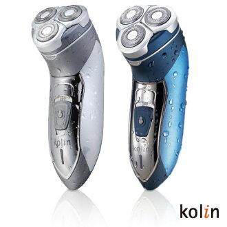 【歌林Kolin】3D立體水洗電動刮鬍刀 KSH-R300W(藍色)