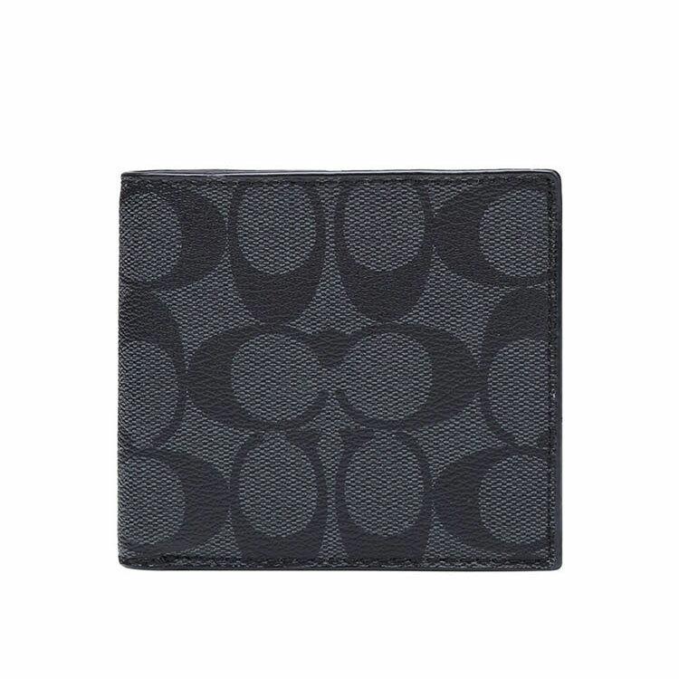 COACH  F75006 男款短款對折錢包錢夾黑色 0