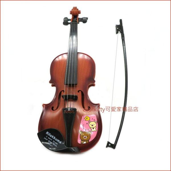 asdfkitty可愛家☆日本san-x拉拉熊小提琴玩具-粉紅色-日本正版商品