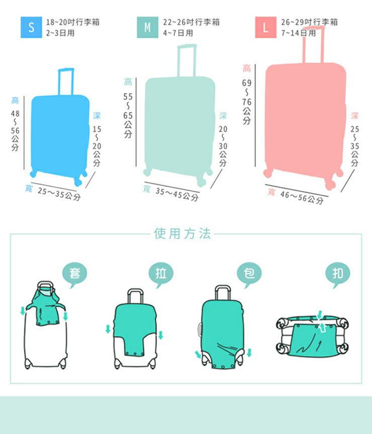 【Intermission】LCS374 海洋生態 外銷日本 彈力保護套 行李箱套 旅行箱防塵罩 防塵套 特殊圖案(M 、L號 行李箱) 6