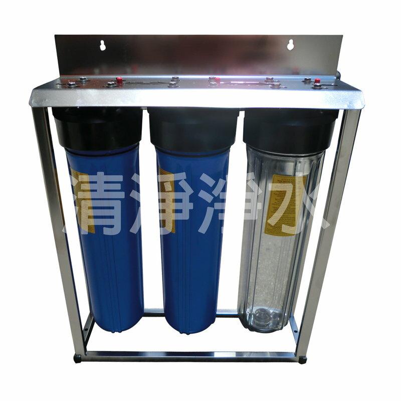 【大墩生活館】三道不鏽鋼腳架型水塔過濾器、淨水器,新雙O-ring瓶(無附濾心) ISO台製