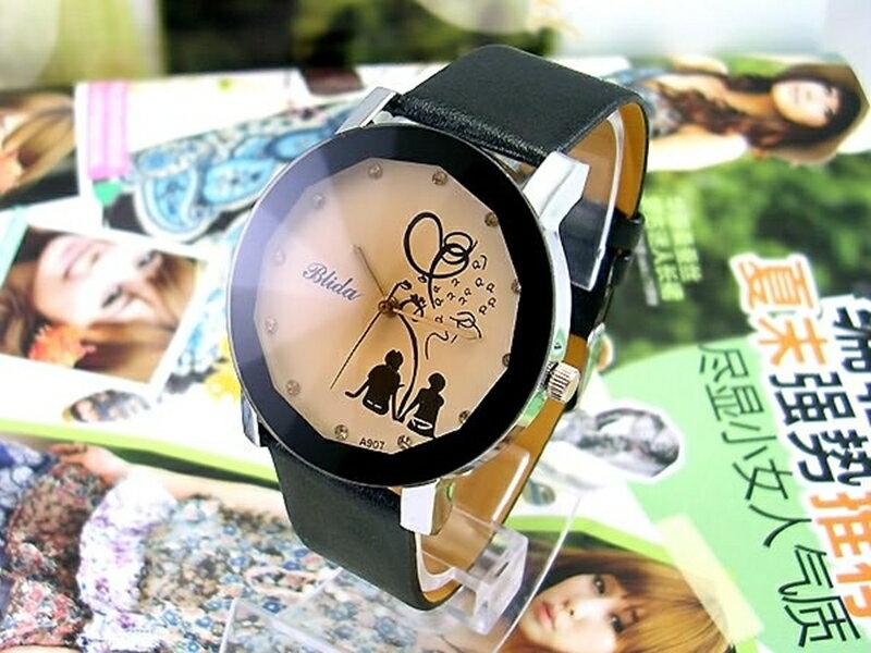 《316小舖》【PG09】(時尚石英手錶-情侶背影造型手錶-單件價 /男生手錶/女生手錶/生日禮物/聖誕節禮物/耶誕節禮物/男女手錶)