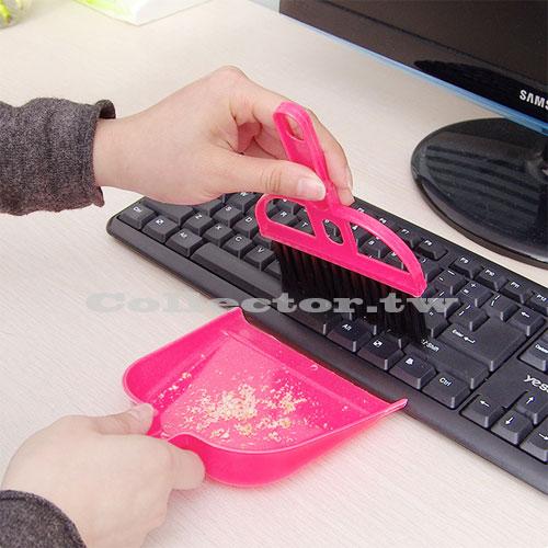 【F17082502】小學生書桌掃把清潔組 小掃把小畚箕套裝組 電腦清潔刷 清潔死角超容易