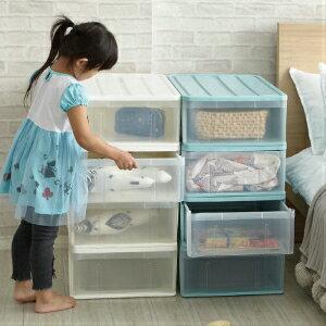 《全店免運》【ikloo】日系可堆疊式收納箱整理箱(4入組)2色任選