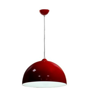 簡約風格單燈吊燈 E27 * 1 紅/白可選 (促銷品)