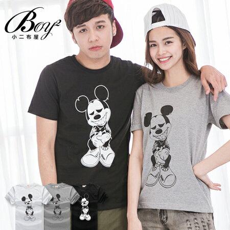 ☆BOY-2☆ 【IT8002】情侶韓版潮流刺青米老鼠短袖T恤 0