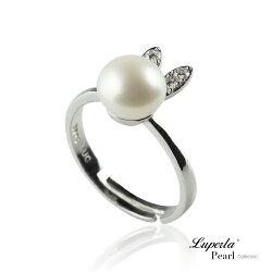 大東山珠寶 童話彼得兔 純銀晶鑽珍珠戒指