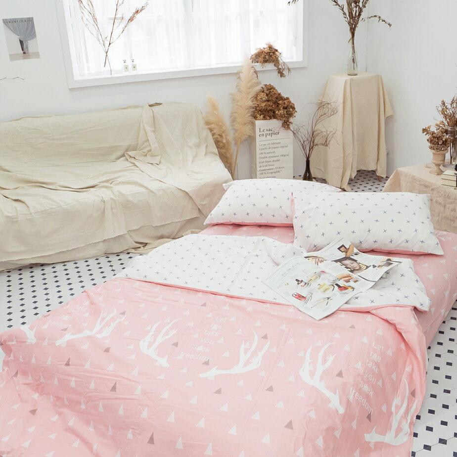 春日早晨 床包/被套/兩用被/枕套 單品賣場 100%復古純棉 台灣製