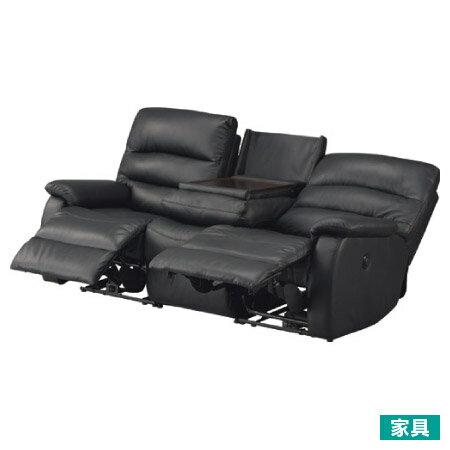 ◎全皮3人用頂級電動可躺沙發 BELIEVER2 BK