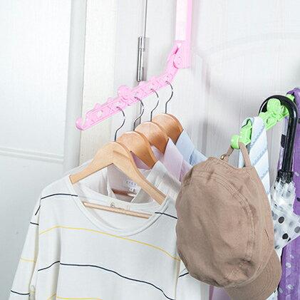77美妝:可折疊掛式門板曬衣架衣架(不挑色)HM0022