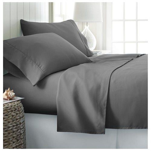 4-Pc Premium Ultra Soft Microfiber Bed Sheet - Gray 1