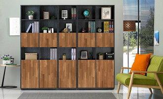 【尚品家具】 JF-314-5 布拉格1.35尺柚木雙色下開門書櫃