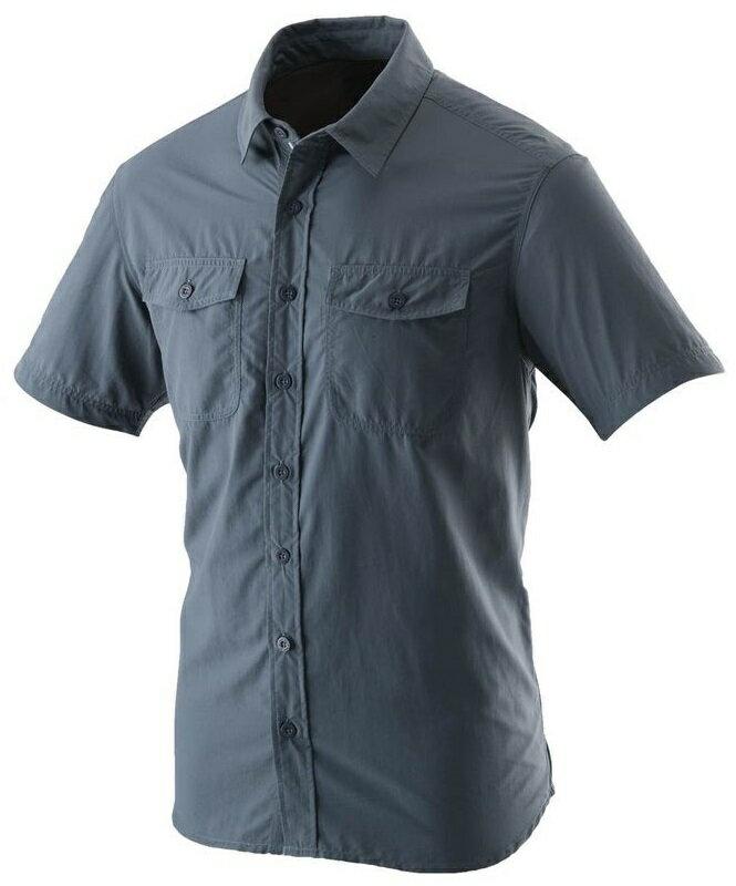 【【蘋果戶外】】荒野 W1206-51 藍灰色 WildLand 男 可調節抗UV素面長袖襯衫 不黏膩休閒襯衫 輕薄 透氣 快乾 襯衫外套 防曬外套 團體服裝