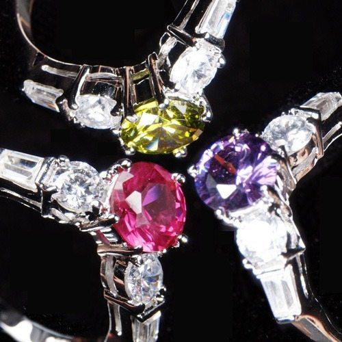 OKAY歐凱:【LaFinia】復古水晶戒指(共三色可選擇)