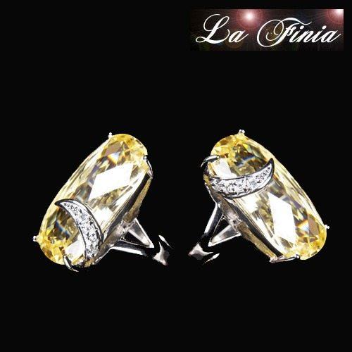 【La Finia】復古黃水晶鑽戒指