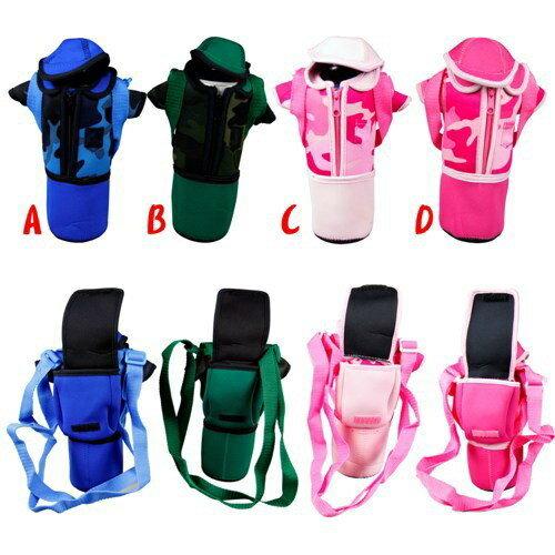 流行時尚迷彩背書包造型水壺袋--顏色隨機