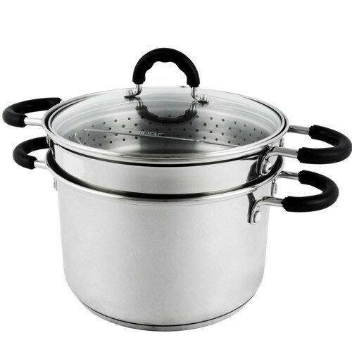 OKAY歐凱:高級不鏽鋼多功能蒸鍋(25.5cm)