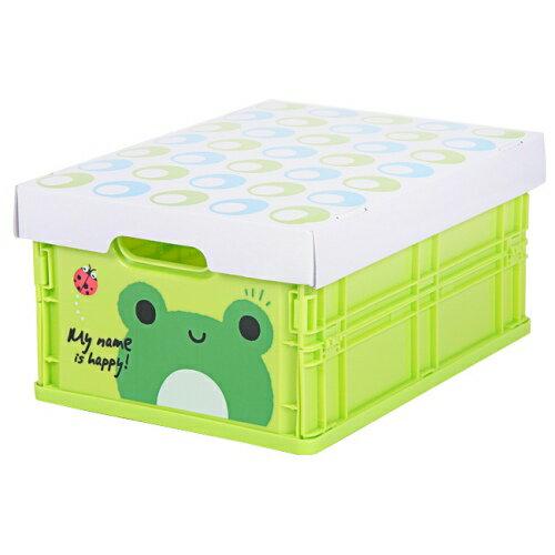 可愛動物摺疊式收納箱 (青蛙)