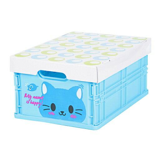 可愛動物摺疊式收納箱 (貓咪)