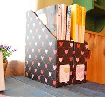 【DIY】愛心菱格文件雜誌收納盒 (免運費)